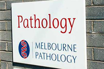 Melbourne Pathology Signage at Central Clinic